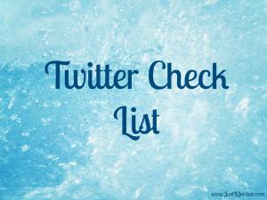 Twitter Check List